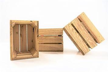 DECORANDO CON SAM 3 Cajas de Madera, 20x15x15cm Caja Natural, Beige. Incluye Imán de Regalo Personalizable.: Amazon.es: Hogar