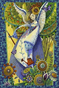 Toland Home Garden Blessed 28 x 40 Inch Decorative Colorful Spring Summer Gardening Angel House Flag