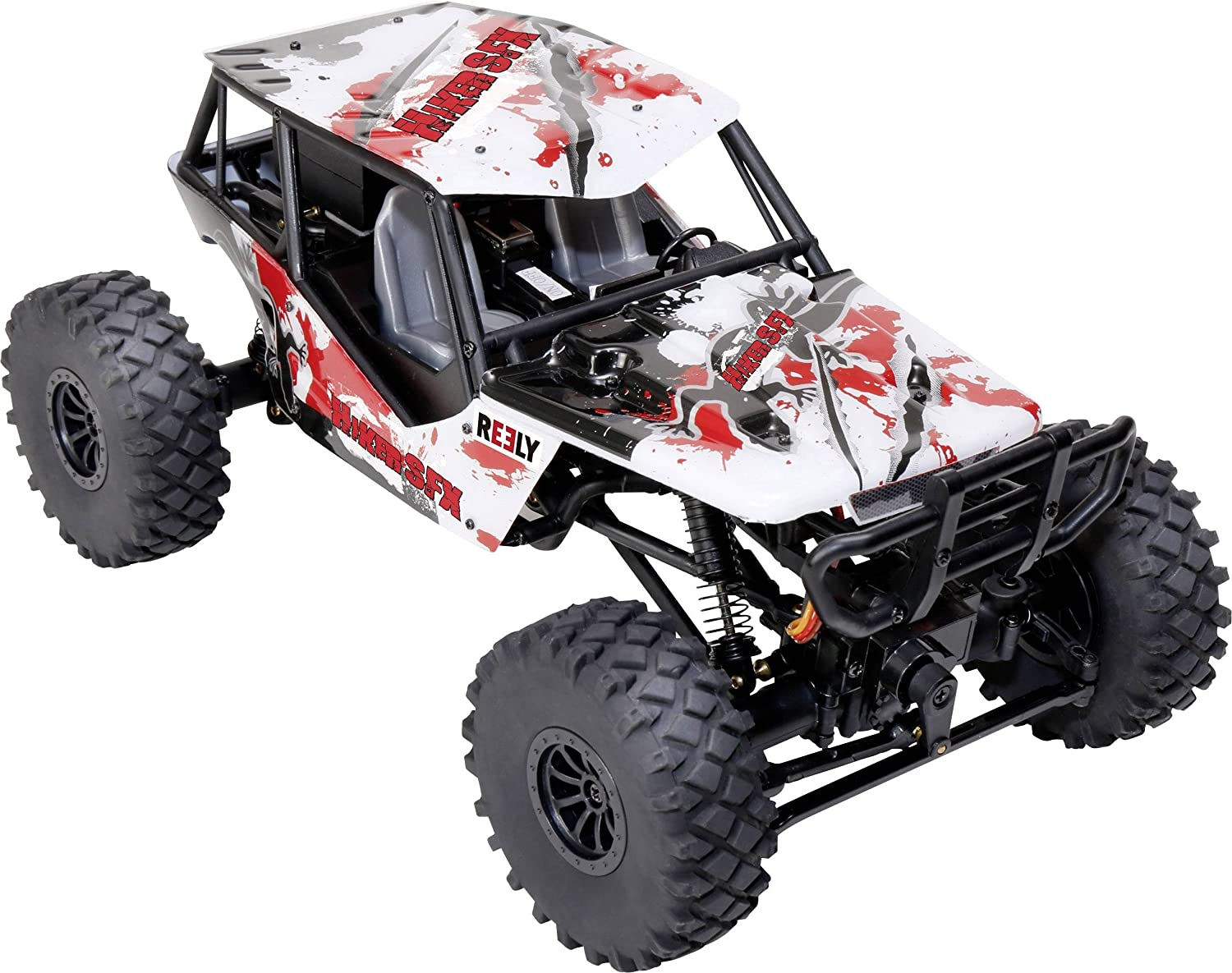 Crawler Reely Hiker SFX Brushed 118 Automodello Elettrica 4WD RtR 2,4 GHz incl. Modulo audio, incl. Batteria e