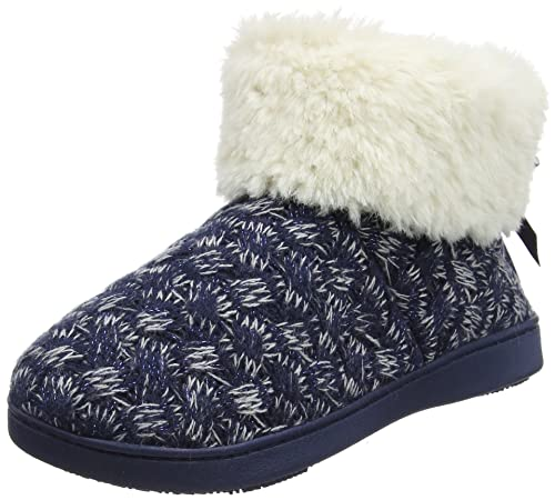 Isotoner Bootie Mujer Cable Knit Altas Para SlippersZapatillas qjpSzMGLUV