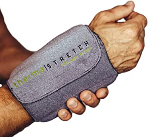 THERMA-STRETCH Wrist Heating Pad – Microwaveable Joint Wrap for Arthritis, Carpal Tunnel, Tendinitis, Pain Relief – Natural, Adjustable and Stretchable Therapy that STAYS