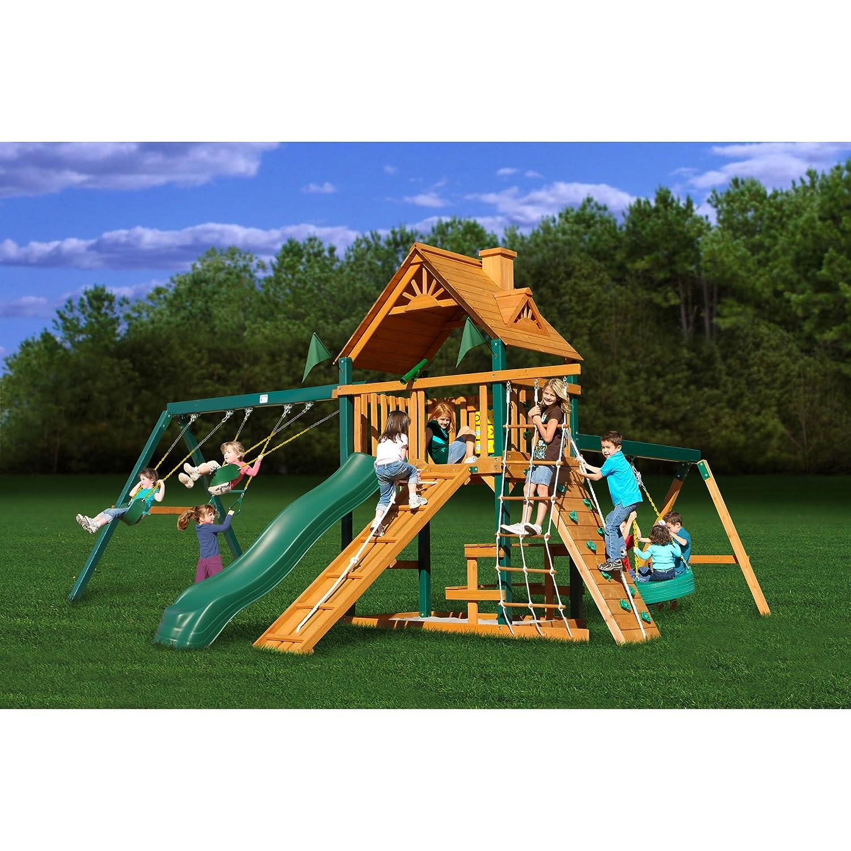 amazon com gorilla playsets blue ridge frontier playground system
