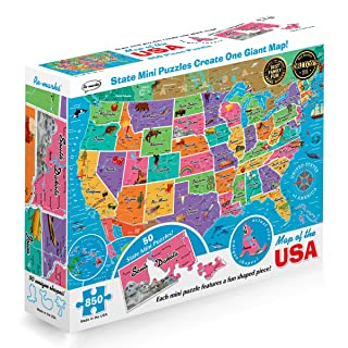 Re-marks Map of the USA 850 Piece Puzzle with Mini Poster