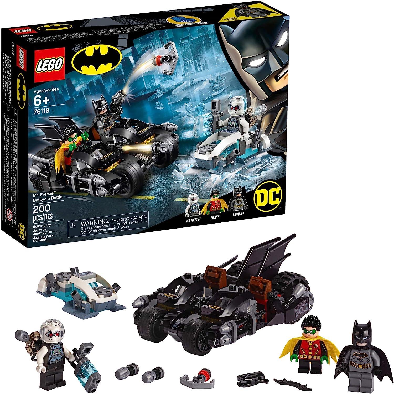 LEGO DC Batman Mr. Freeze Batcycle Battle 76118 Building Kit (200 Pieces)