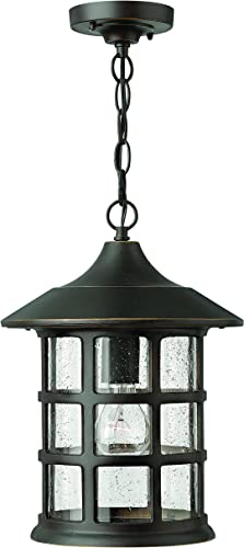 Hinkley 1802OZ-LED Traditional One Light Hanging Lantern from Freeport collection in Bronze Darkfinish,