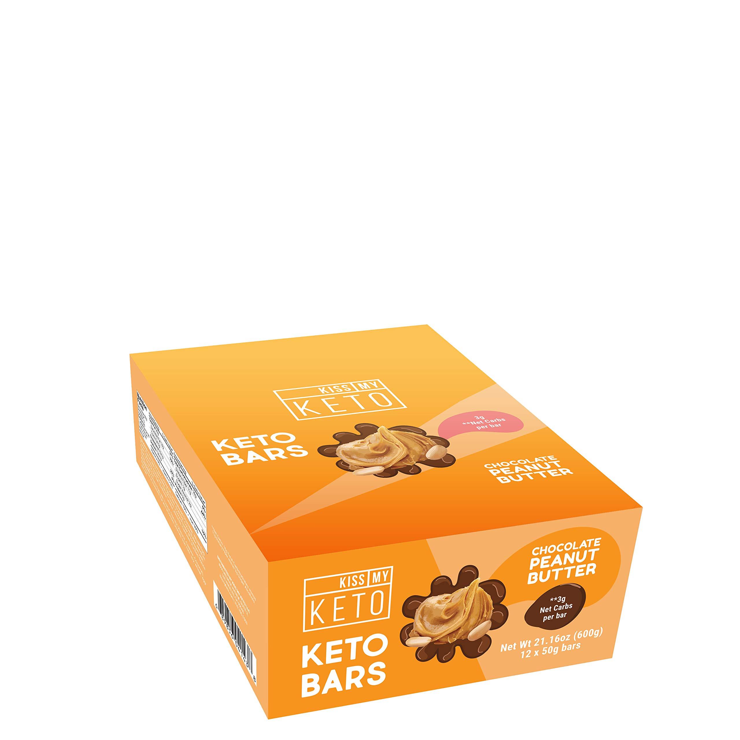 Kiss My Keto Snacks Keto Bars - Keto Chocolate Peanut Butter (3 Pack, 36 Bars), Nutritional Keto Food Bars, Paleo, Low Carb/Glycemic Keto Friendly Foods, All Natural On-The-Go Snacks, 3g Net by Kiss My Keto (Image #3)