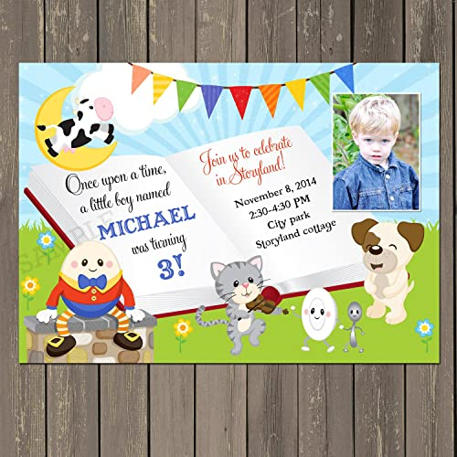 Image Unavailable Not Available For Color Nursery Rhyme Birthday Invitation