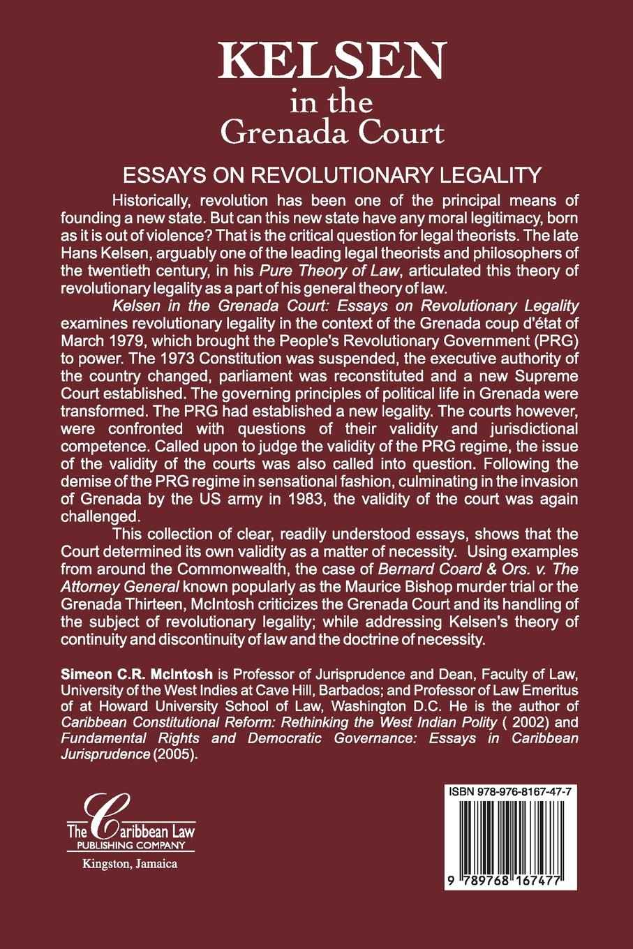 kelsen in the court essays on revolutionary legality kelsen in the court essays on revolutionary legality simeon c r mcintosh 9789768167477 com books