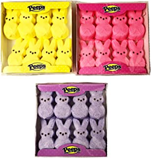 product image for Marshmallow Peeps Pink, Purple, and Yellow Easter Bunnies 8 ct (Pack of 3)