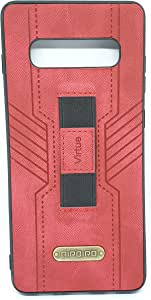Samsung Galaxy S10 Leather Cover With Holder By AirBird - Red