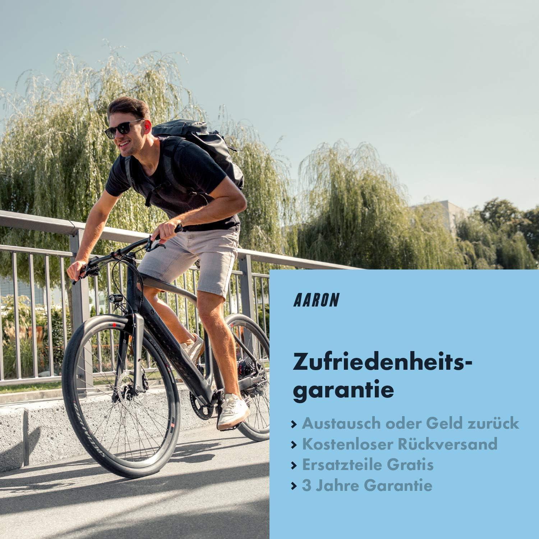 bicicleta de monta/ña de gel Sill/ín de bicicleta de trekking color negro bicicleta el/éctrica Aaron para bicicleta de trekking ergon/ómico y c/ómodo para hombre y mujer bicicleta de paseo