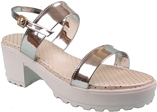 43a3fa0eaa7 Foot Wagon Hills Women s Block Heels Sandal  Buy Online at Low ...