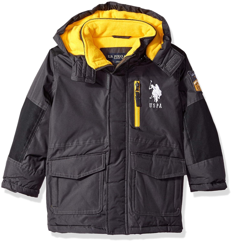 US Polo Association Boys Toddler Parka Outerwear Jacket, Charcoal ...