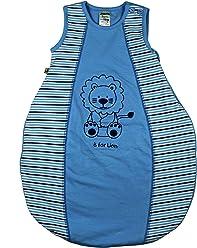 Jacky Baby Jungen Schlafsack, Baby Boy, Alter 2-6 Monate, Größe: 62/68, Farbe: Hellblau geringelt, 321711