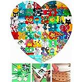 Geschenke 24 Hochzeitspuzzle Herz zum Bemalen 74 x 72cm - Holz-Puzzle zur Hochzeit lustiges Hochzeitsspiel für Gäste/Brautpaar