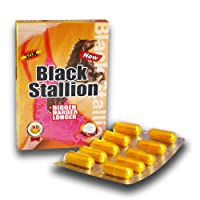 Black Stallion 30k Solid Gold - 10 Capsules Platinum Male Enhancement Pill Fast Acting Male Amplifier for Strength, Performance, Energy, and Endurance