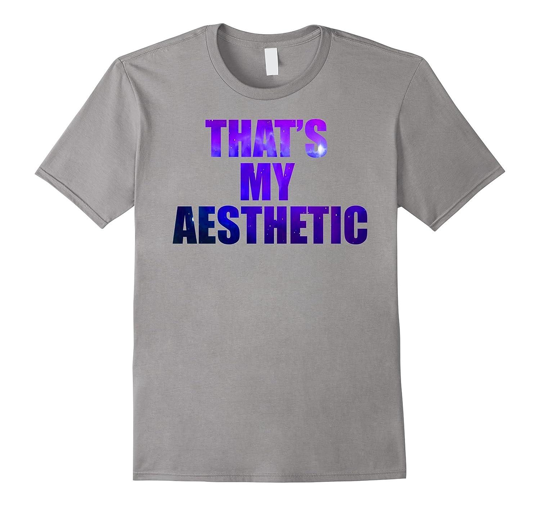 Thats My Aesthetic Galaxy Blue Stars Shirt-TH
