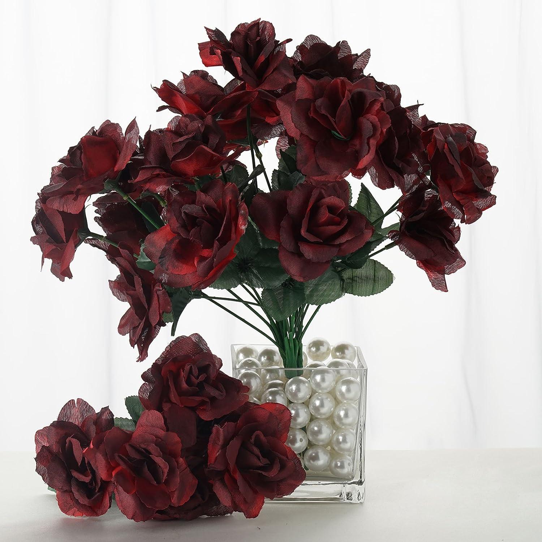 BalsaCircle 84 シルク オープン バラ – 12 本 – 造花 ウェディングパーティー センターピース ブーケのアレンジメント ARTI_84OPN_BLKRED@001 B0788X6RTR ブラック&レッド ブラック&レッド