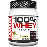 Labrada 100% Whey Protein Concentrate (Post Workout, 26g Protein, 0g Sugar, 26 Servings) - 2.2 lbs (1 kg) (Vanilla)