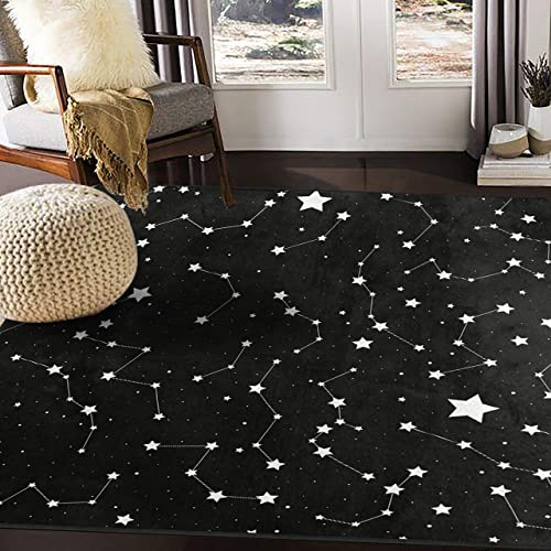 ALAZA Magic Constellation Star Space Area Rug Rug