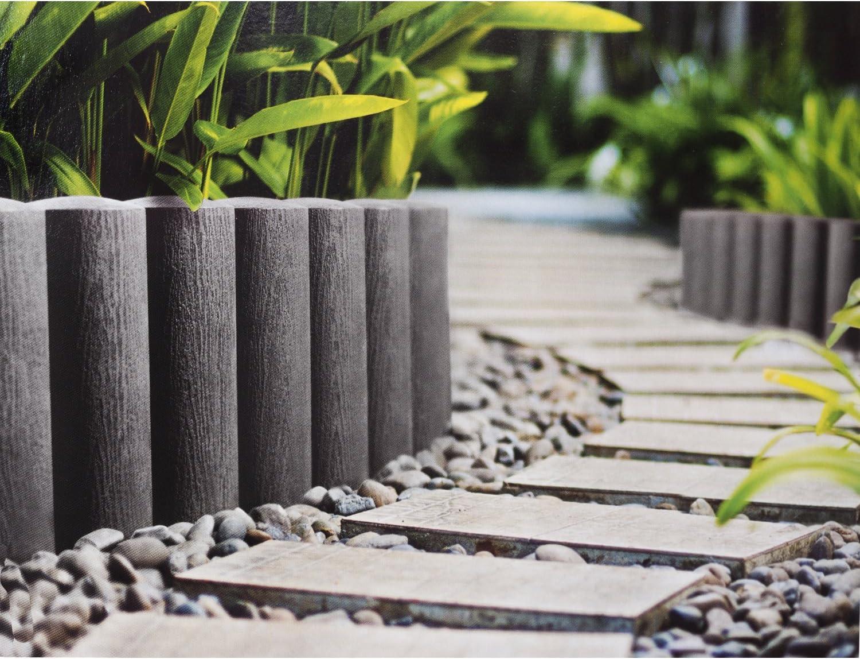25,5cm altura longitud de 2,3m Empalizada del jard/ín Cellfast Standard 4 grafito