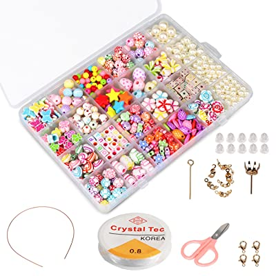PHOGARY Children DIY Beads Set(500pcs), DIY Bracelets Necklaces Beads for Jewellery Making for Kids Bead Necklace Bracelet Making Kit As Beads Gift Kit for Girls: Toys & Games