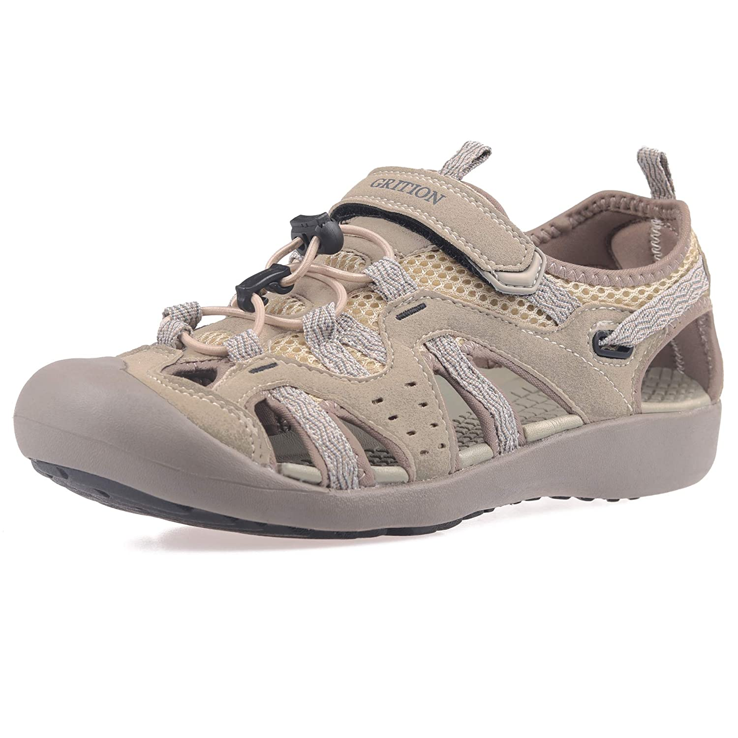 8e27fb4e74e61 GRITION Women Outdoor Hiking Sandals Summer Beach Sport Comfort Adjustable  Closed Toe Protection Casual Breathable Water Shoes Athletic Walking Sandal  ...