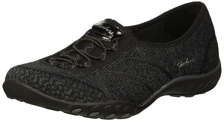 Skechers Women's Breathe-Easy-Sweet-Jam Sneaker B078YS5BYK 5.5 W US|Black