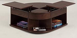 Progressive Furniture Sebring Castered Double Lift-Top Cocktail Table, Cherry Medium Ash