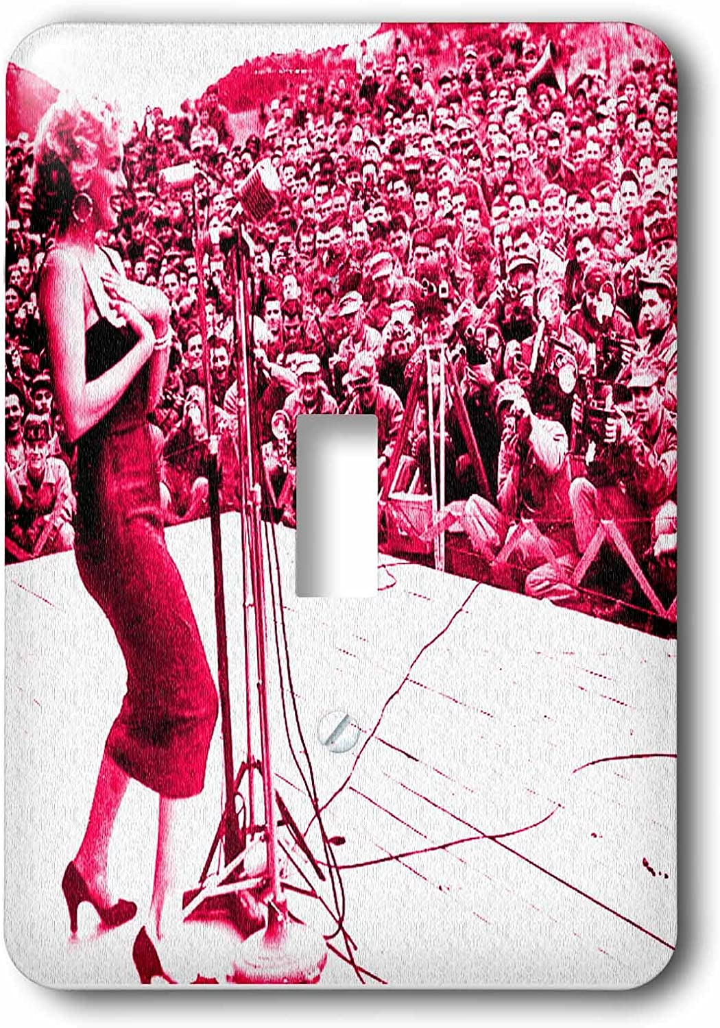 3dRose lsp/_233930/_1 Marilyn Monroe sings to the troops in Korea 1954 Single Toggle Switch