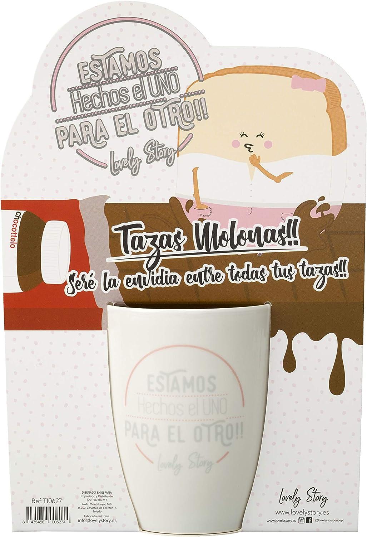 Cer/ámica Blanco 14/_cm LOVELY STORY TI0624 Taza Decorada