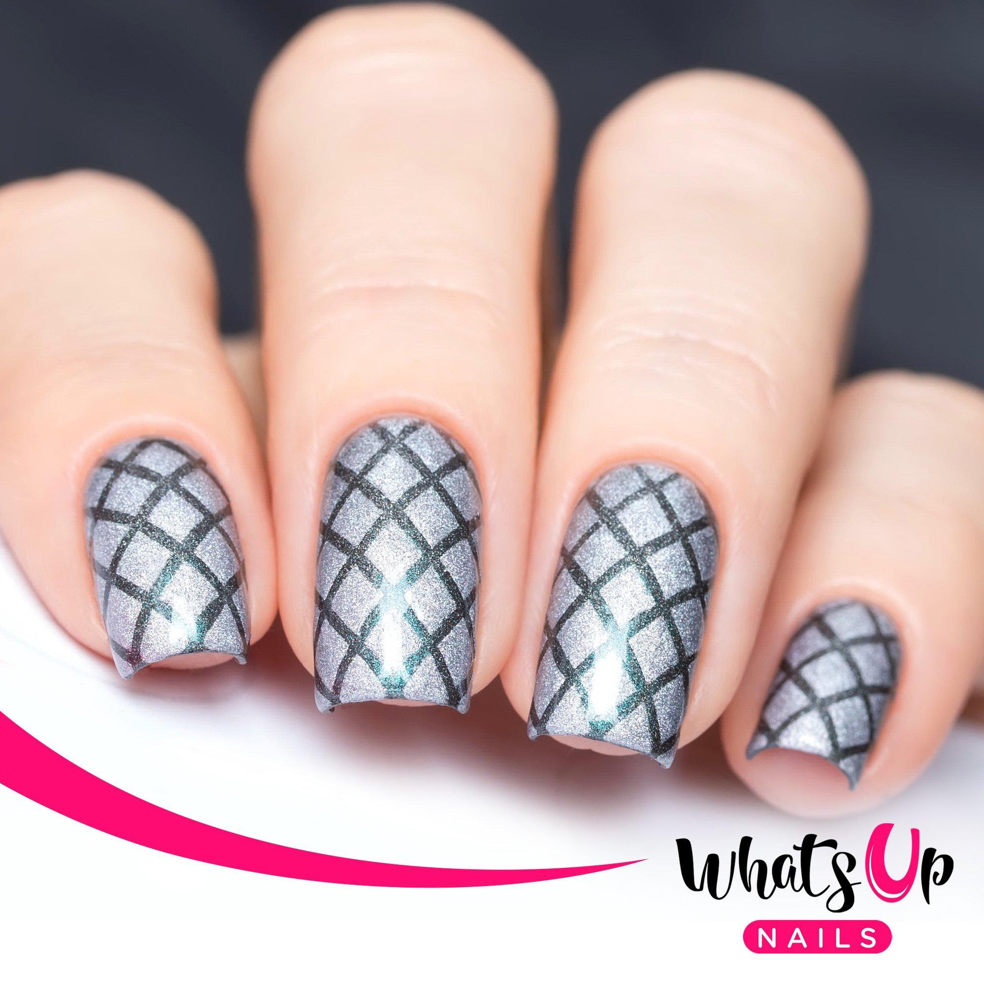 Amazon.com : Whats Up Nails - Diamond Gemstone Nail Stencils ...