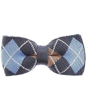 Flatseven Mens Argyle Pattern Bowtie Plaid Check Knit Bow Tie Yb505