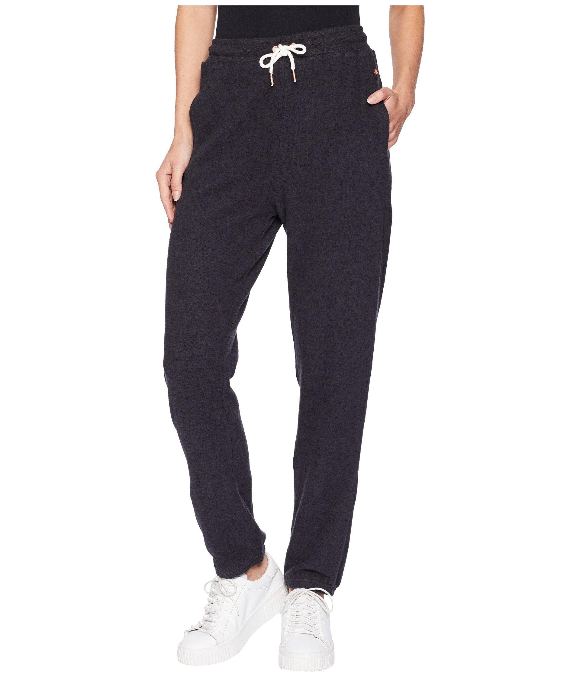 Volcom Junior's Lil Fleece Pant, Vintage Black, Extra Large
