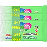 All Day Anti bacterial Wipes 72sheets (2+1 Promo)