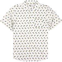 Urban Boundaries Men's Short Sleeve Cotton Hawaiian Tropical Patterns Shirts