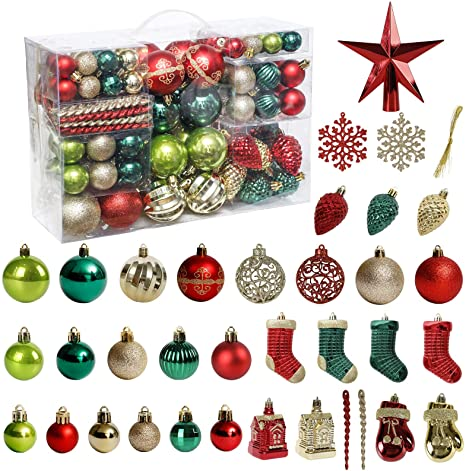 Merry Christmas 2020 red green handmade 4 ornament with ribbon