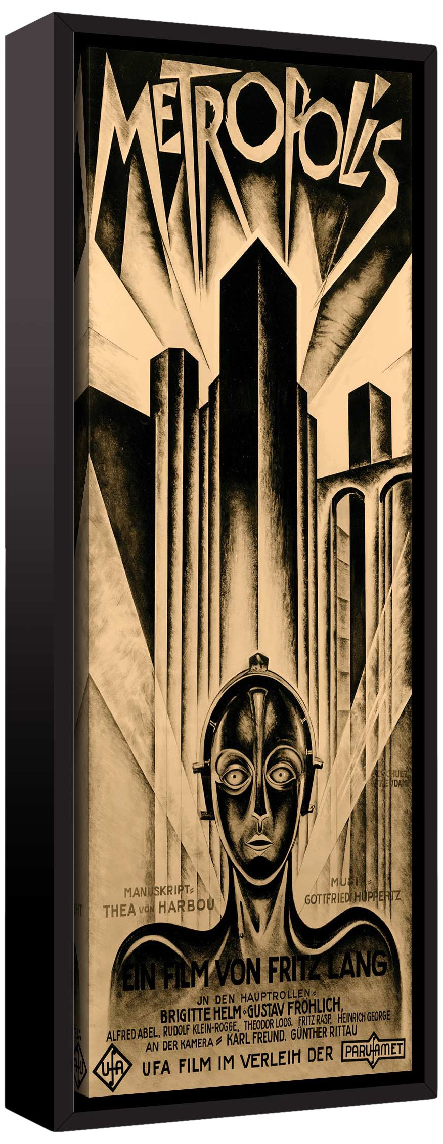 ArtWall Vintage Movies 'Metropolis' Floater-Framed Gallery Wrapped, 08'' x 12'', Canvas Artwork