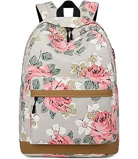 8085c85381ef4 Onyorhan Canvas Backpack Casual School Bags College Student Rucksack USB  Teenager…