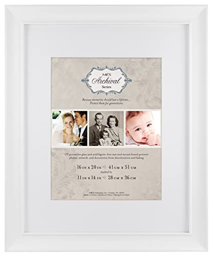Amazon.com: MCS 16x20 Inch Archival Frame with 11x14 Inch Mat ...
