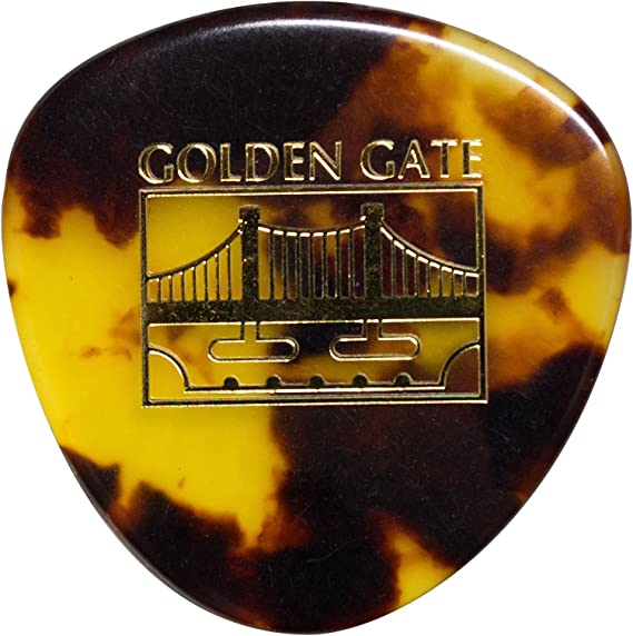 Golden Gate MP-12 Deluxe Tortoise Style Flat Pick - Rounded Triangle - Dozen