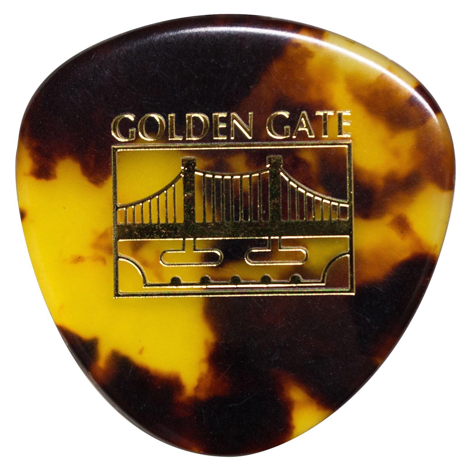 Golden Gate MP-12 Deluxe Tortoise Style Mandolin Pick - Rounded Triangle - Dozen