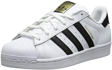 adidas Originals Women's Superstar W Fashion Sneaker, White/Black/White,  4.5 M