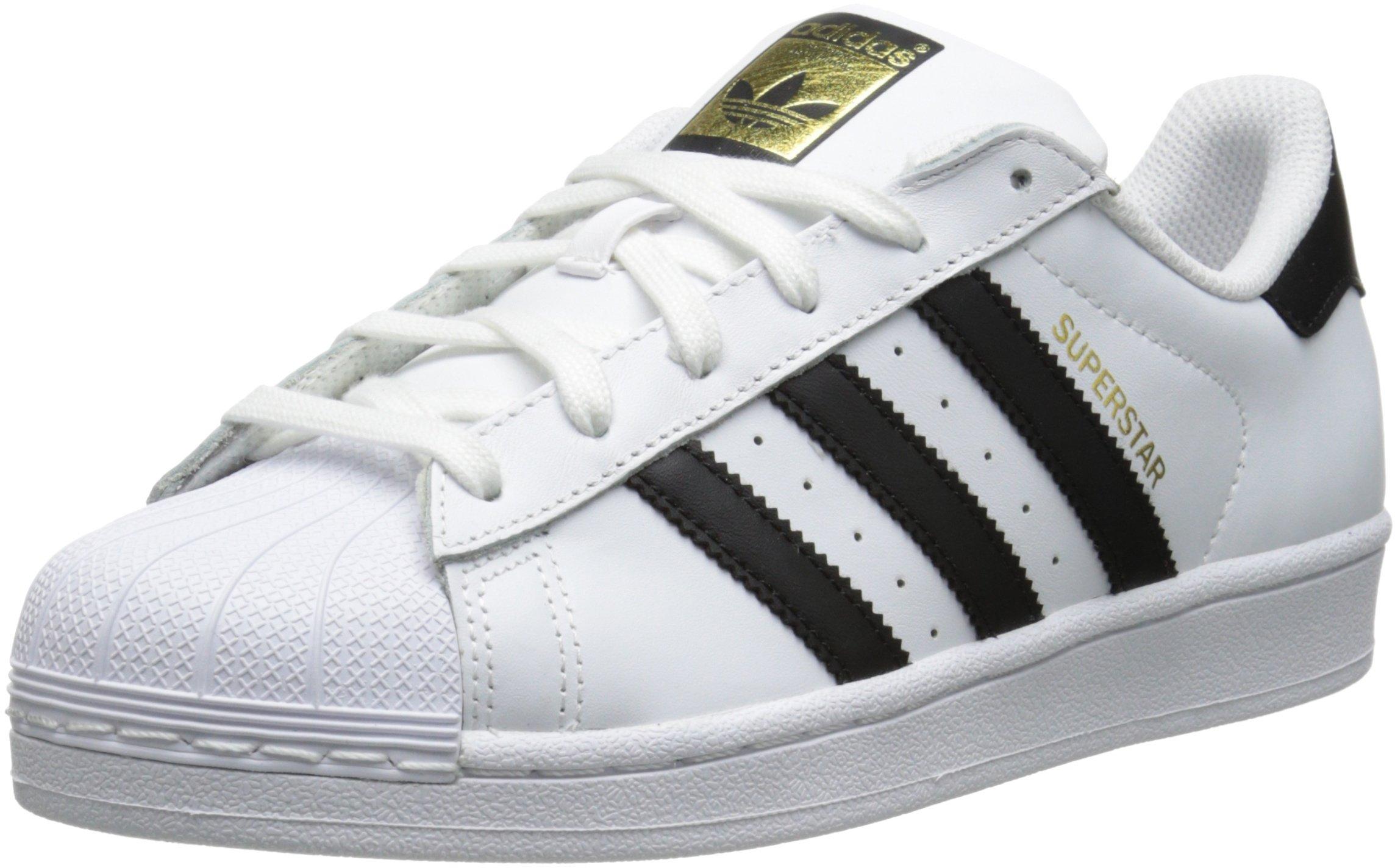 adidas Originals Women's Superstar W Fashion Sneaker, White/Black/White, 9 M US