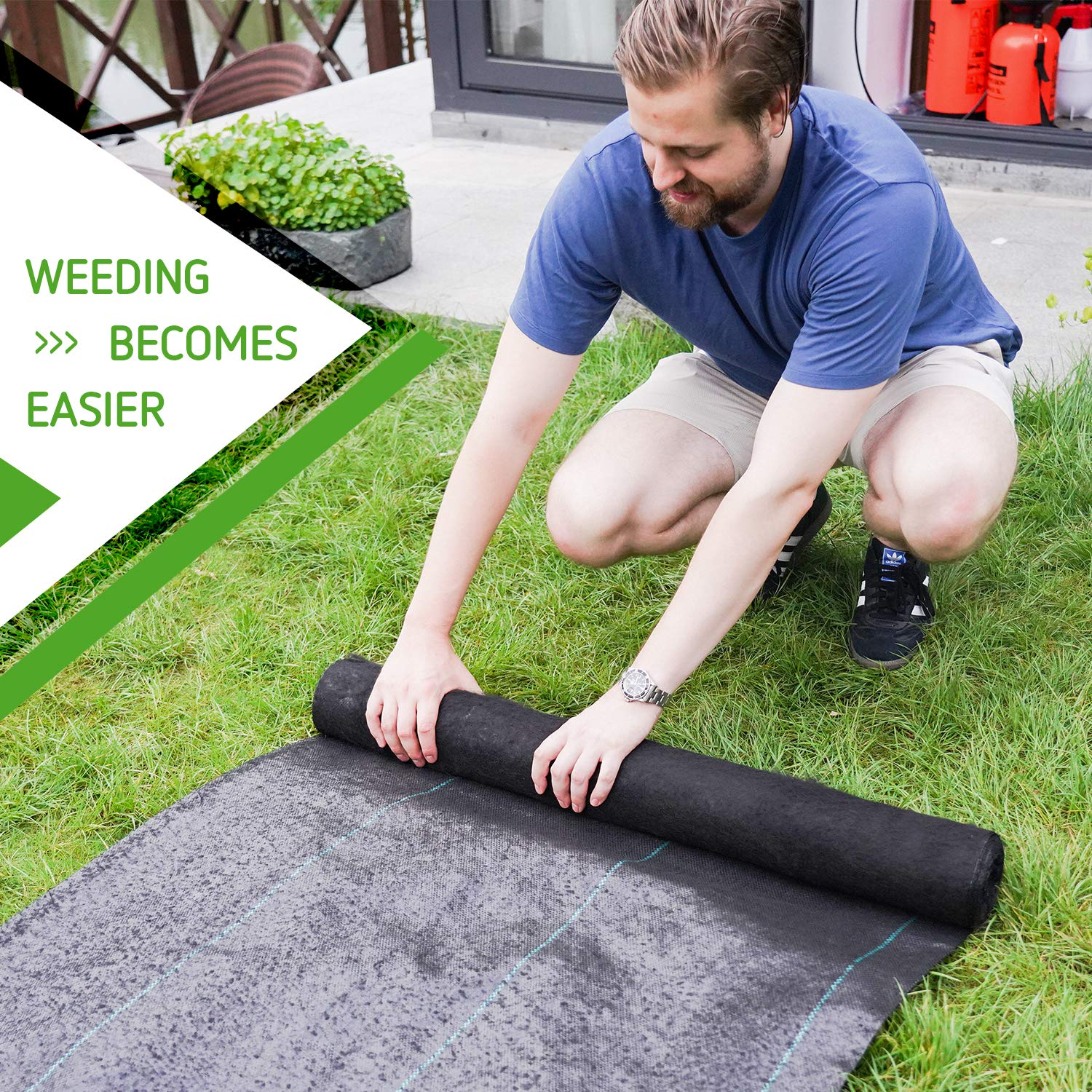3ft X 100ft Commercial Grade Ground Cover For Outdoor Or Greenhouse Vivosun 5oz Weed Barrier Landscape Fabric Weed Barrier Fabric
