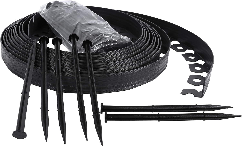 ribbobboard 4.0 plástico Jardín Bordes 10 metros kit para las fronteras, caminos, césped + 40 pinzas de seguridad