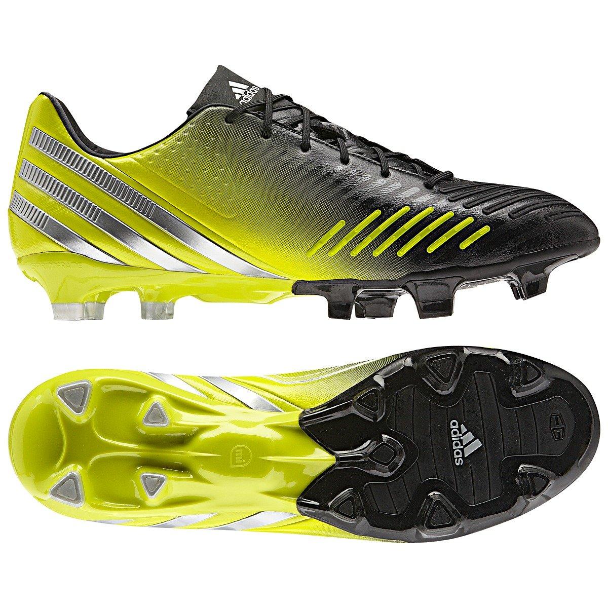 reputable site 76124 421ea adidas Predator LZ TRX FG Soccer Cleats (Black Metsil LabLim Noir Argm CiVela,  7.5A)  Amazon.co.uk  Shoes   Bags
