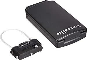 AmazonBasics Portable Storage Lock Box, Black, 1-Pack