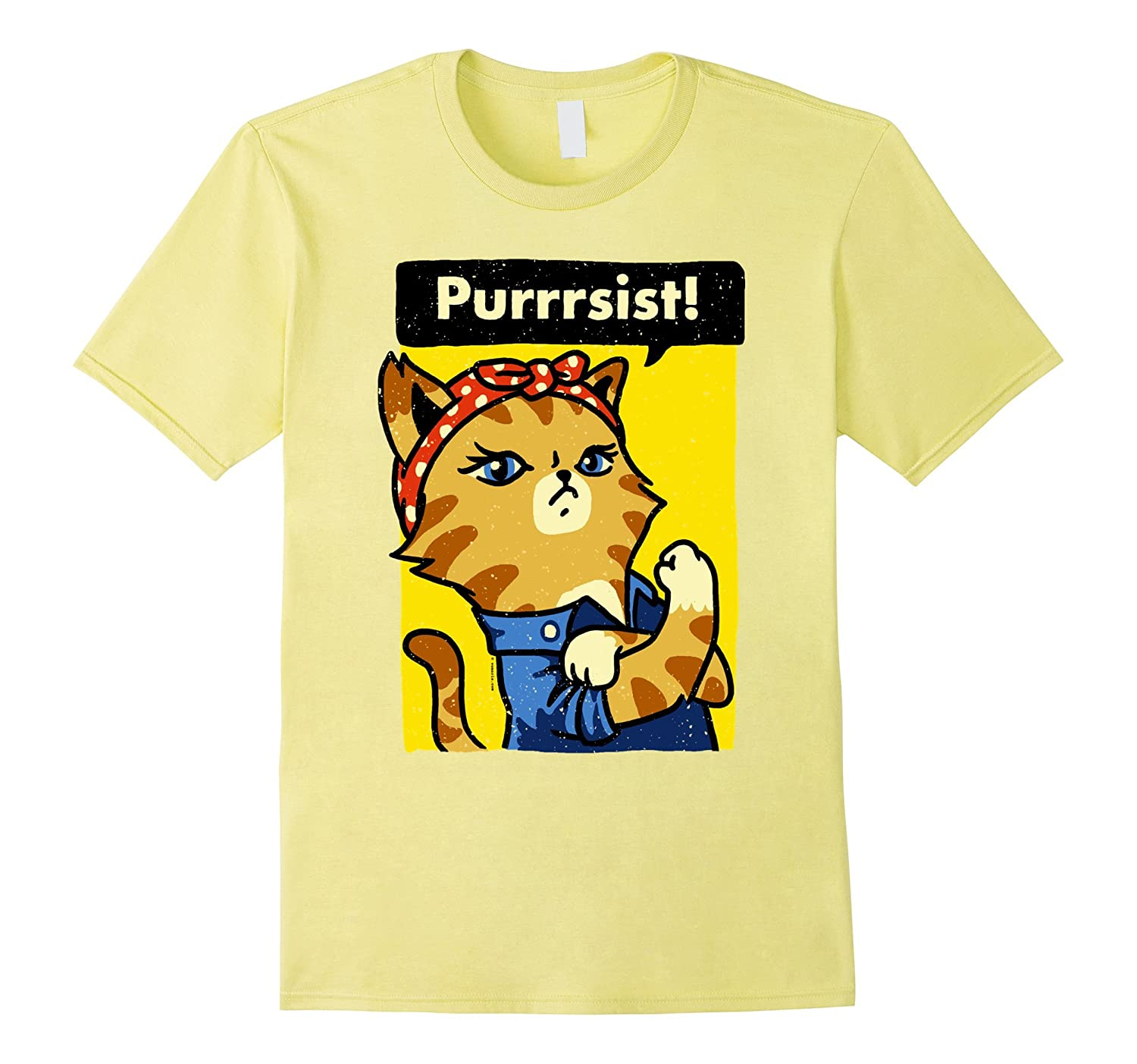 4d985ea19d We Can Do It Poster She Purrsisted Cat Lover Funny T-Shirt-CD – Canditee