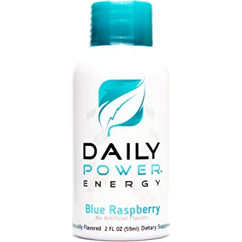 DailyPower Energy Shot - 220mg of Natural Caffeine - 12 Count (Blue  Raspberry)